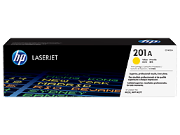 HP 201A Yellow Original LaserJet Toner Cartridge, CF402A