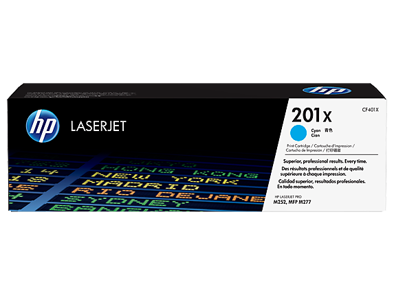 HP 201X High Yield Cyan Original LaserJet Toner Cartridge, CF401X