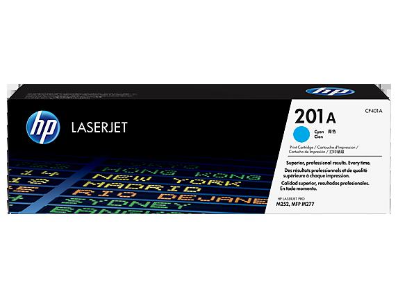HP 201A Cyan Original LaserJet Toner Cartridge, CF401A