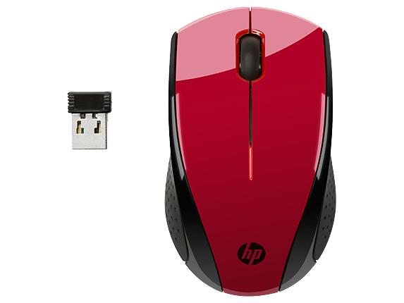 HP X3000 Red Wireless Mouse - Center