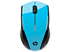 HP X3000 Blue Wireless Mouse - Center