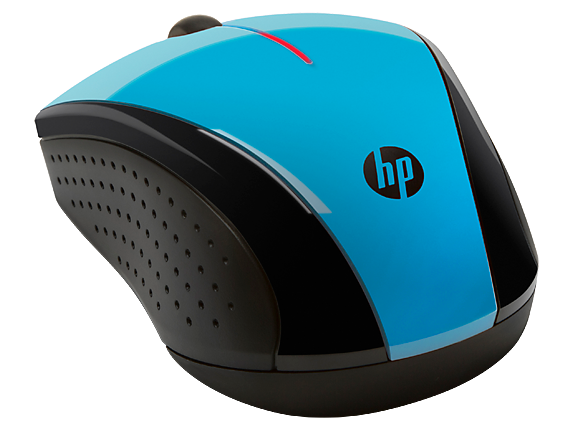 HP X3000 Blue Wireless Mouse - Right