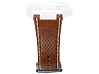 Brown Leather Strap Kit - Center