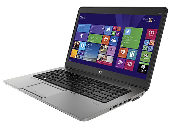 HP EliteBook 840 G2 Notebook PC with Intel® Core™ i3-5010U (2.1GHz, 3MB L3 Cache) Processor, with Intel® HD Graphics 5500 - Left
