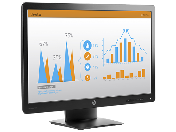 HP ProDisplay P232 23-inch Monitor - Right