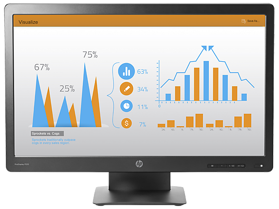 HP ProDisplay P232 23-inch Monitor - Center