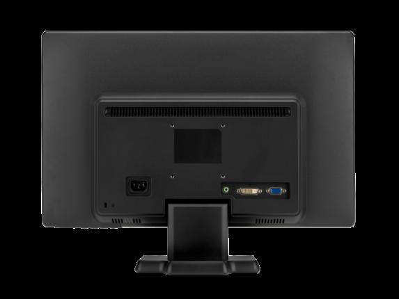 HP W2082a 20-inch LED Backlit Monitor - Rear