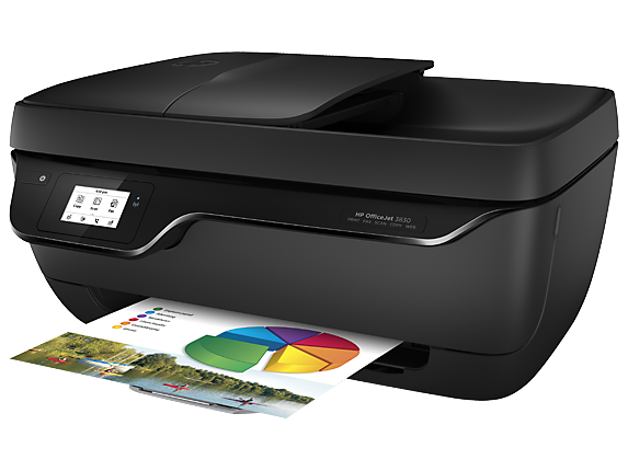 HP OfficeJet 3830 All-in-One Printer - Left
