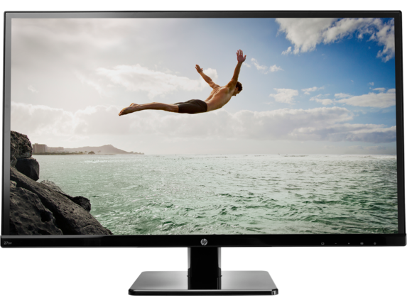 HP 27sv 27-inch LED Backlit Monitor - Center