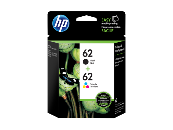 HP 62 2-pack Black/Tri-color