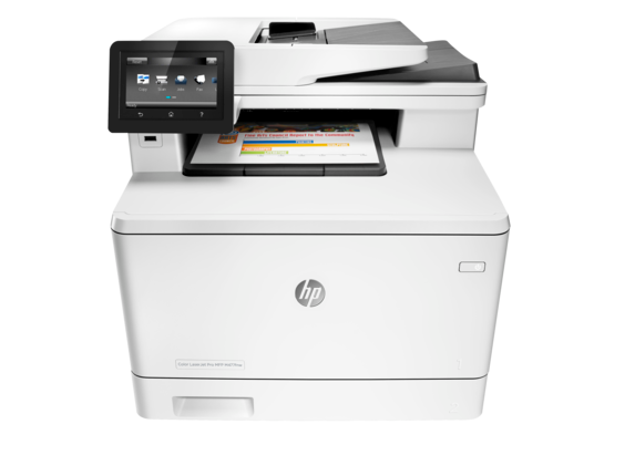 HP Color LaserJet Pro MFP M477fnw - Center