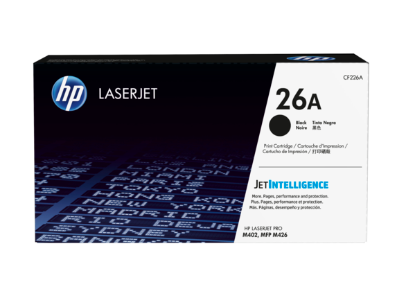 HP 26A Black Original LaserJet Toner Cartridge, CF226A - Center