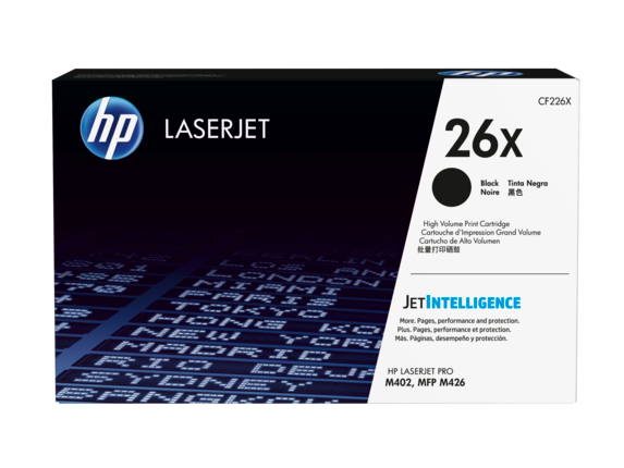 HP 26X High Yield Black Original LaserJet Toner Cartridge, CF226X