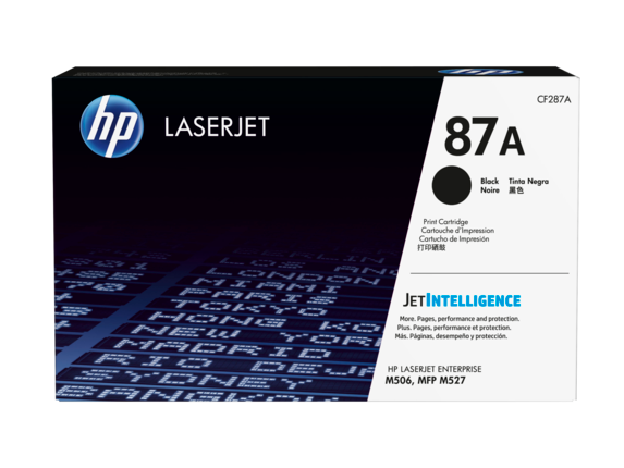 HP 87A Black Original LaserJet Toner Cartridge, CF287A
