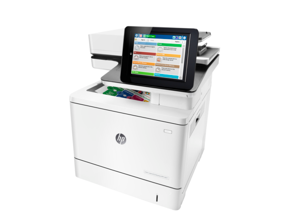 HP Color LaserJet Enterprise MFP M577dn - Left
