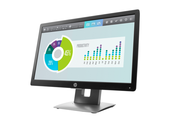 HP EliteDisplay E202 20-inch Monitor - Left