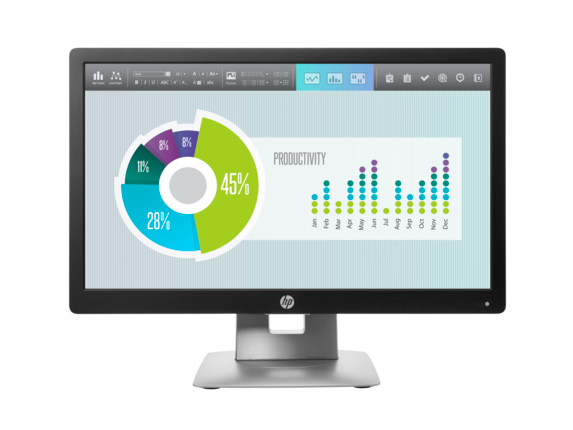 HP EliteDisplay E202 20-inch Monitor - Center