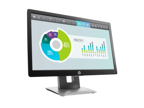 HP EliteDisplay E202 20-inch Monitor - Right