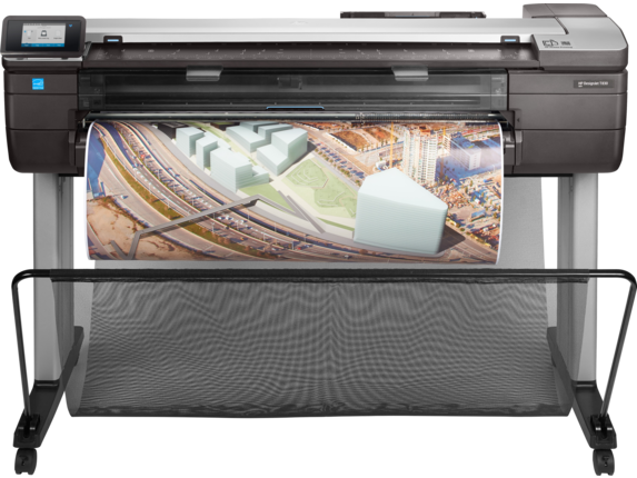 HP DesignJet T830 MFP with Rugged Case - Center