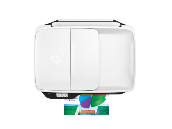HP OfficeJet 3831 All-in-One Printer - Top view closed