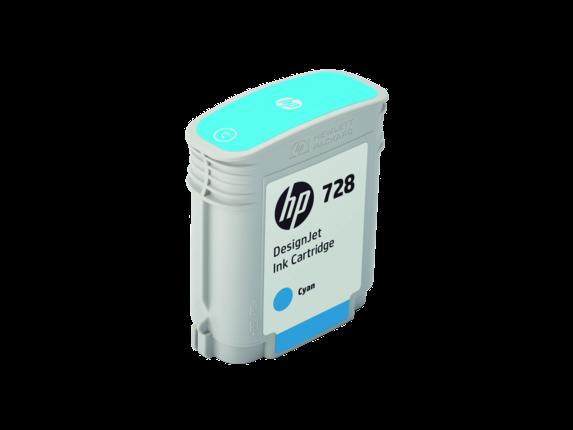 HP 728 40-ml Cyan DesignJet Ink Cartridge - Right