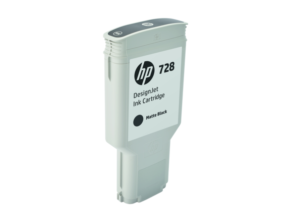 HP 728 300-ml Matte Black DesignJet Ink Cartridge - Right