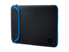 HP 15.6 Black/Blue Neoprene Sleeve - Center
