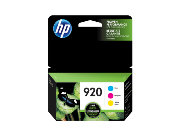 HP 920 3-pack Cyan/Magenta/Yellow Original Ink Cartridges - Center
