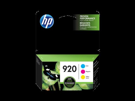 HP 920 3-pack Cyan/Magenta/Yellow Original Ink Cartridges
