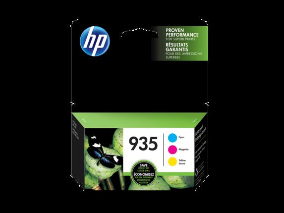 HP 935 3-pack Cyan/Magenta/Yellow Original Ink Cartridges