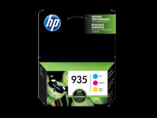HP 935 3-pack Cyan/Magenta/Yellow Original Ink Cartridges, N9H65FN#140