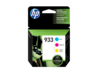 HP 933 3-pack Cyan/Magenta/Yellow Original Ink Cartridges - Center