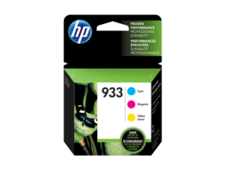 HP 933 3-pack Cyan/Magenta/Yellow Original Ink Cartridges