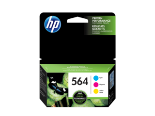 HP 564XL/564 High Yield Black and Standard Color Ink Cartridge Bundle