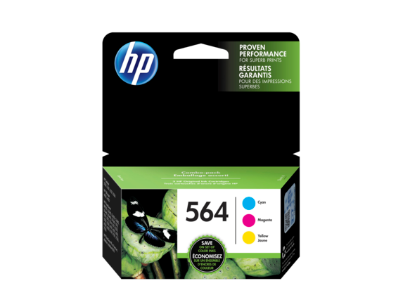HP 564XL/564 High Yield Black and Standard Color Ink Catridge Bundle - Rear
