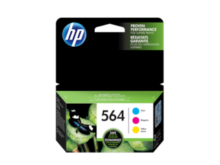 HP 564 3-pack Cyan/Magenta/Yellow Original Ink Cartridges, N9H57FN#140