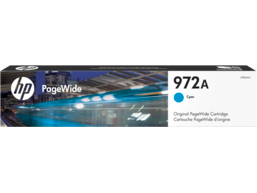 HP 972A Cyan Original PageWide Cartridge