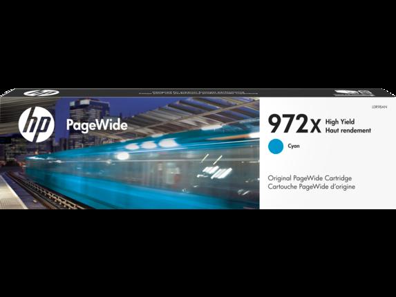 HP 972X High Yield Cyan Original PageWide Cartridge - Center