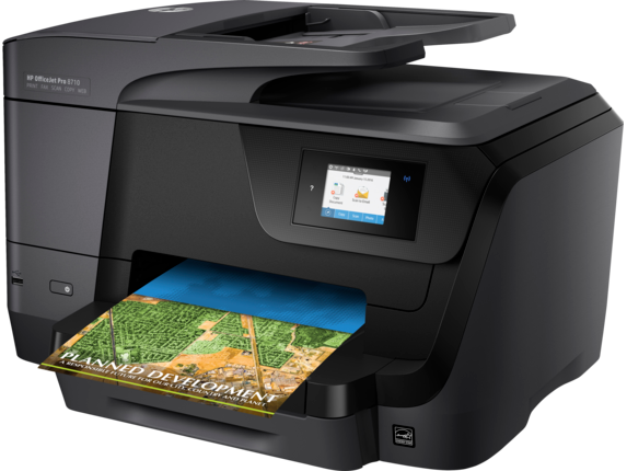 HP OfficeJet Pro 8710 All-in-One Printer - Left