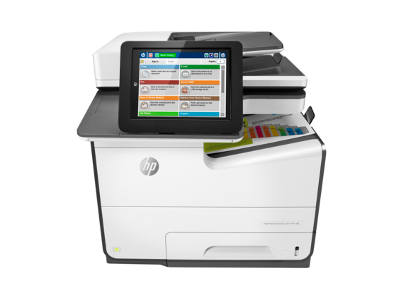 HP PageWide Enterprise Color MFP 586f - Center