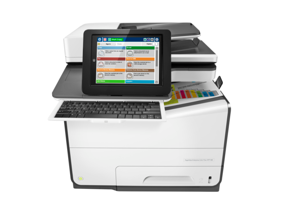 HP PageWide Enterprise Color Flow MFP 586z - Center