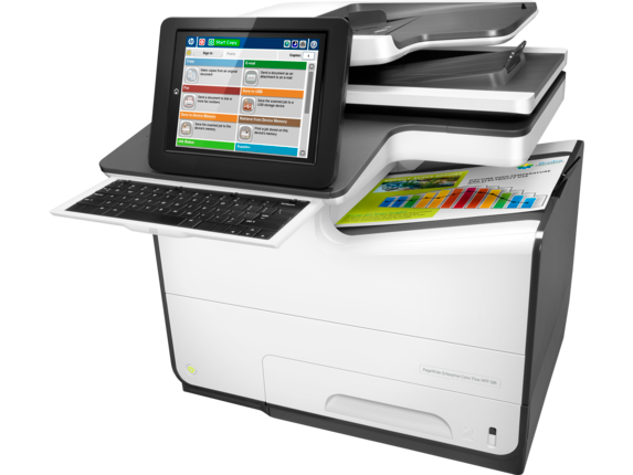 HP PageWide Enterprise Color Flow MFP 586z - Left