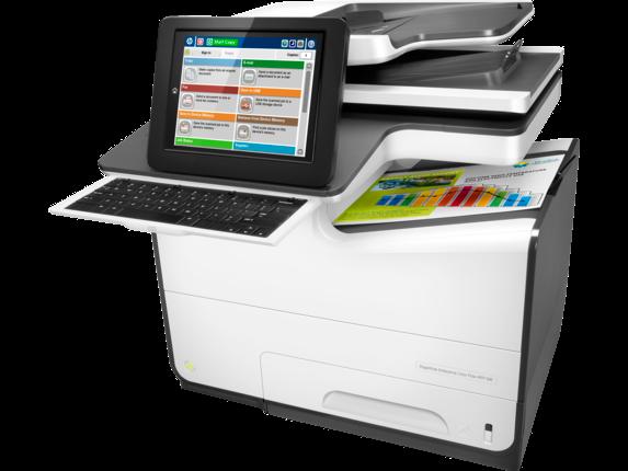 HP PageWide Enterprise Color Flow MFP 586z - Left