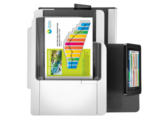 HP PageWide Enterprise Color Flow MFP 586z - Top view closed