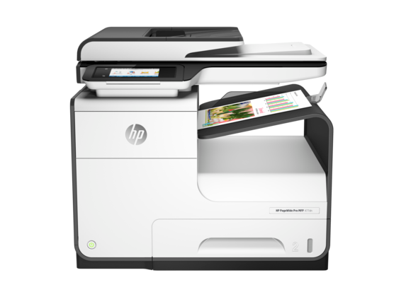 HP PageWide Pro 477dn Multifunction Printer - Center
