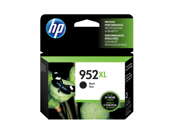 HP 952XL High Yield Black Original Ink Cartridge, F6U19AN#140