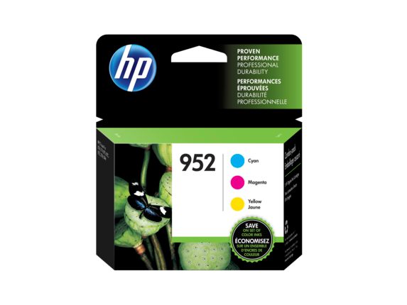HP 952 3-pack Cyan/Magenta/Yellow Original Ink Cartridges