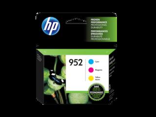 HP 952 3-pack Cyan/Magenta/Yellow Original Ink Cartridges, N9K27AN#140