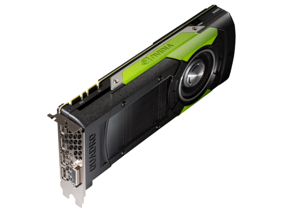 NVIDIA Quadro M6000 24GB Graphics Card - Top view closed