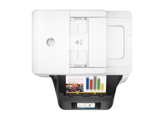 HP OfficeJet Pro 8720 All-in-One Printer - Top view closed